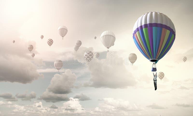 Аэростаты в небе стоковое изображение