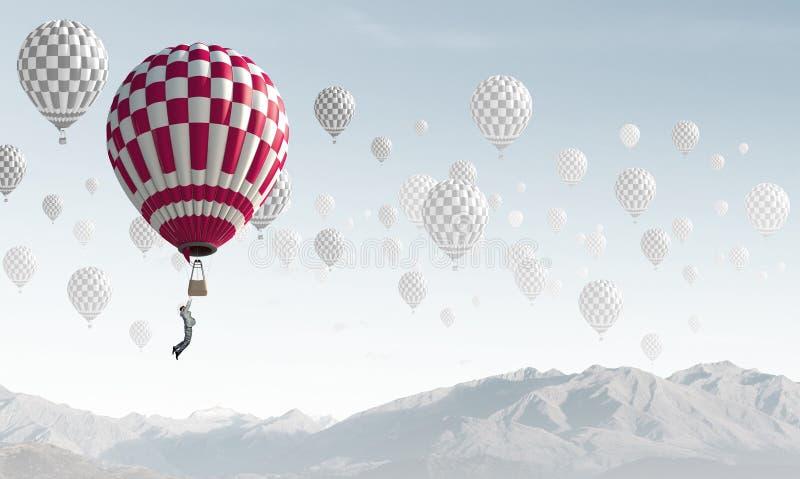 Аэростаты в небе стоковое фото