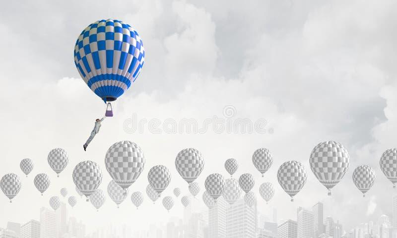 Аэростаты в небе стоковые фотографии rf