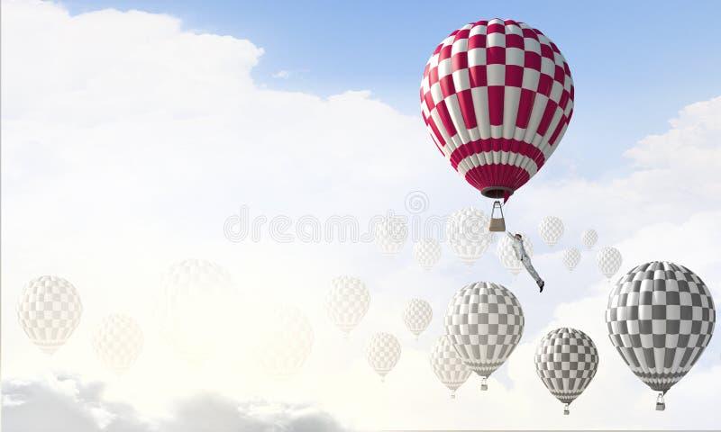 Аэростаты в небе стоковые изображения rf