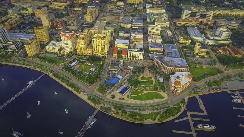 Аэрофотоснимок городского West Palm Beach стоковое фото