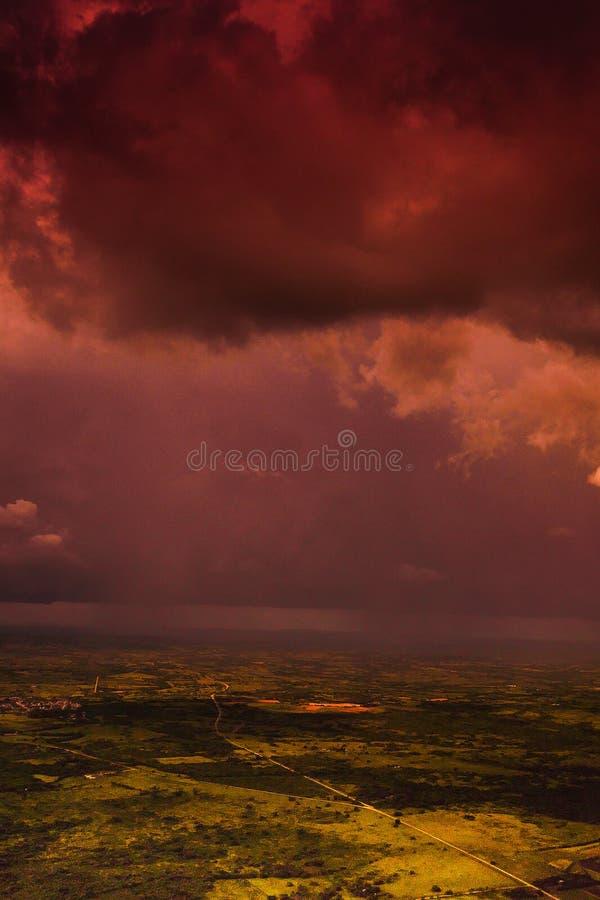 Аэрофотоснимок над Кубой стоковое изображение rf