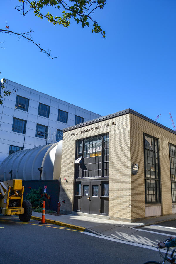Аэродинамическая труба братьев MIT Wright Массачусетсского института стоковые изображения rf