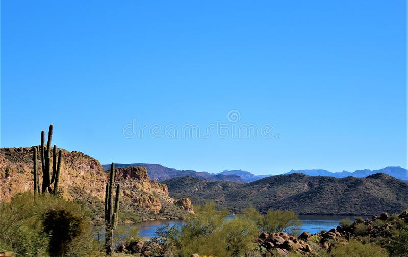4-ая ежегодная езда для диких лошадей Salt River, Аризона мотоцикла, Соединенные Штаты стоковые изображения rf