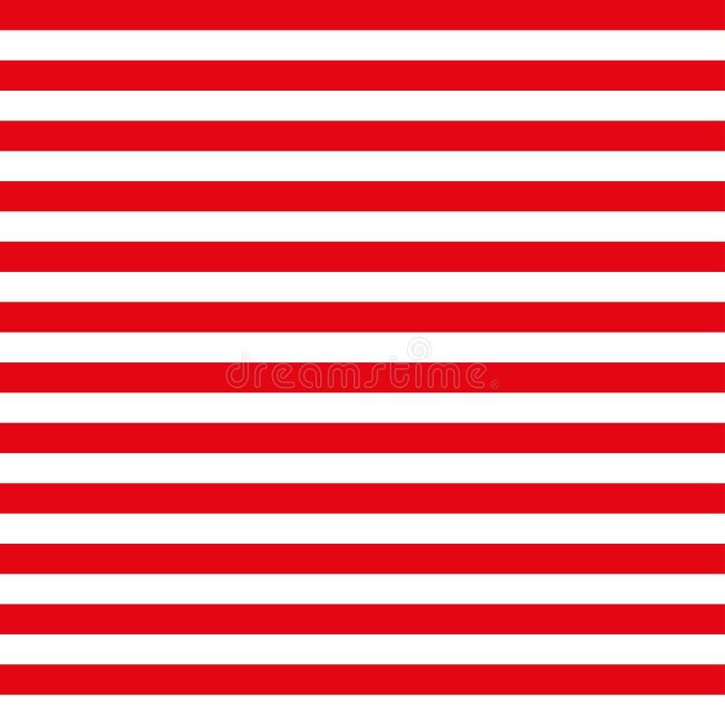 4-ая из картины в июле безшовной с красными и белыми нашивками бесплатная иллюстрация