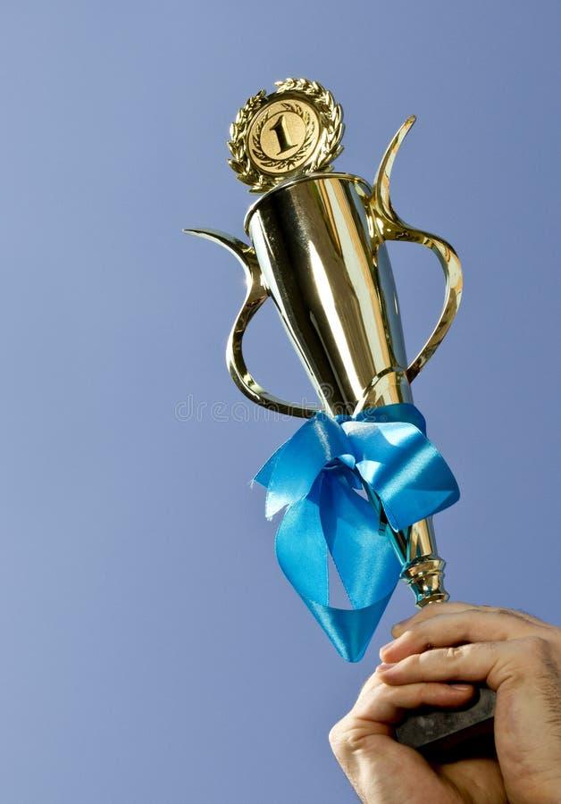 1-ая чашка победителя места стоковые изображения rf