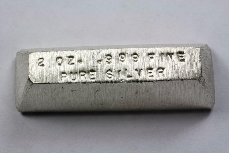 Адвокатское сословие серебряного миллиарда 2 тройских унций стоковая фотография