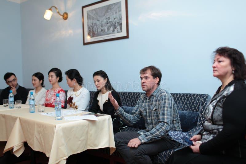 Александр Milutin от оркестра русского положения Andreyev стоковая фотография rf
