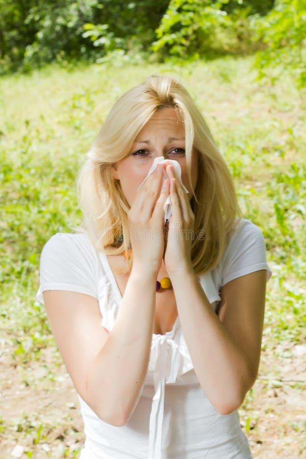 Аллергия цветня стоковое фото rf
