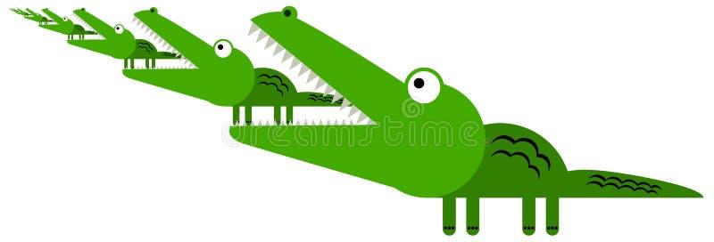 Аллигаторы могут повторять иллюстрация штока