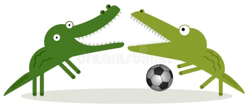 Аллигаторы могут сыграть футбол иллюстрация штока