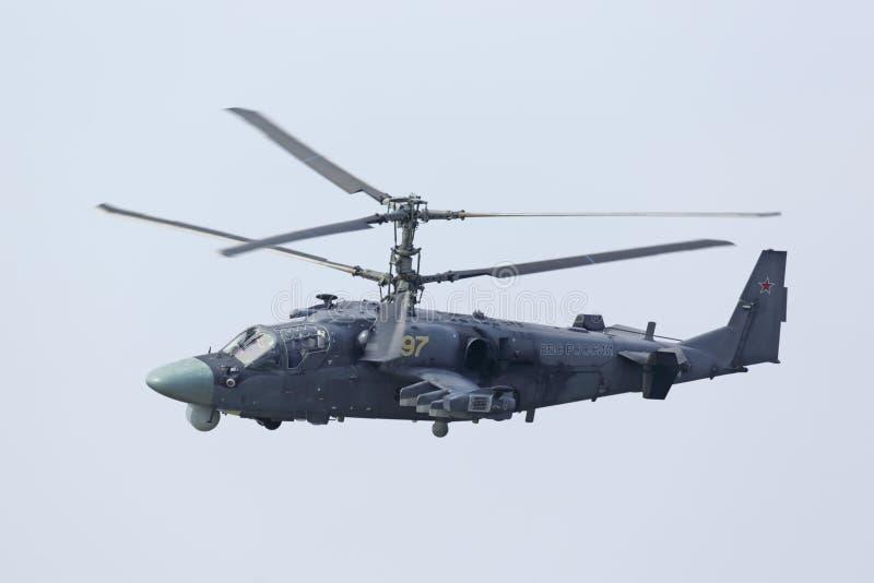 Аллигатор вертолета Ka-52 стоковая фотография