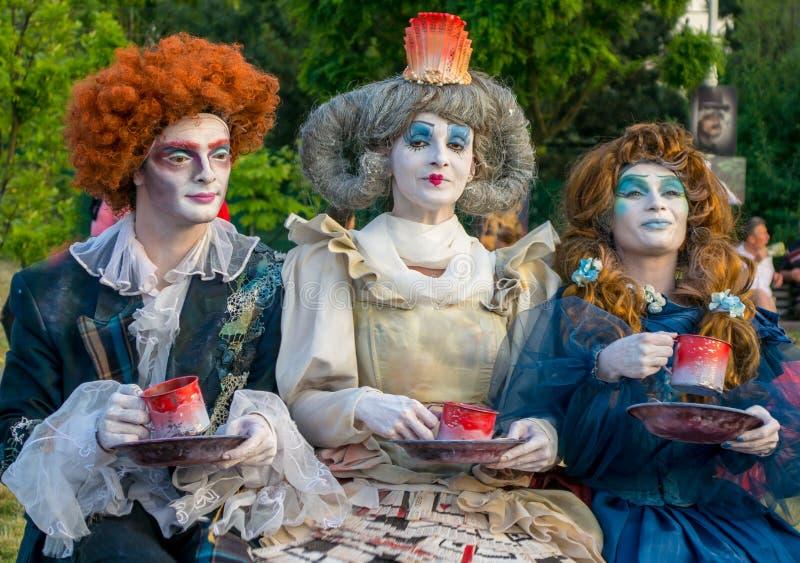Алиса в стране чудес - театре стоковое изображение rf
