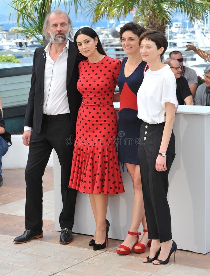 Алиса Rohrwacher & Моника Bellucci & Alba Rohrwacher & Сэм Louwyck стоковая фотография