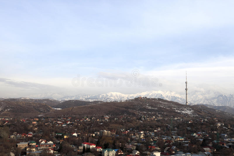 Алма-Ата весной стоковые изображения