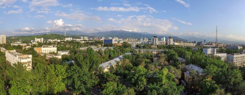 Алма-Ата - вид с воздуха стоковое изображение rf