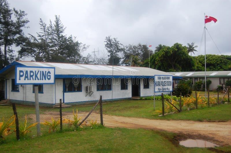 Администраривное администраривн полицейского участка, Кингдом Оф Тонга стоковое фото