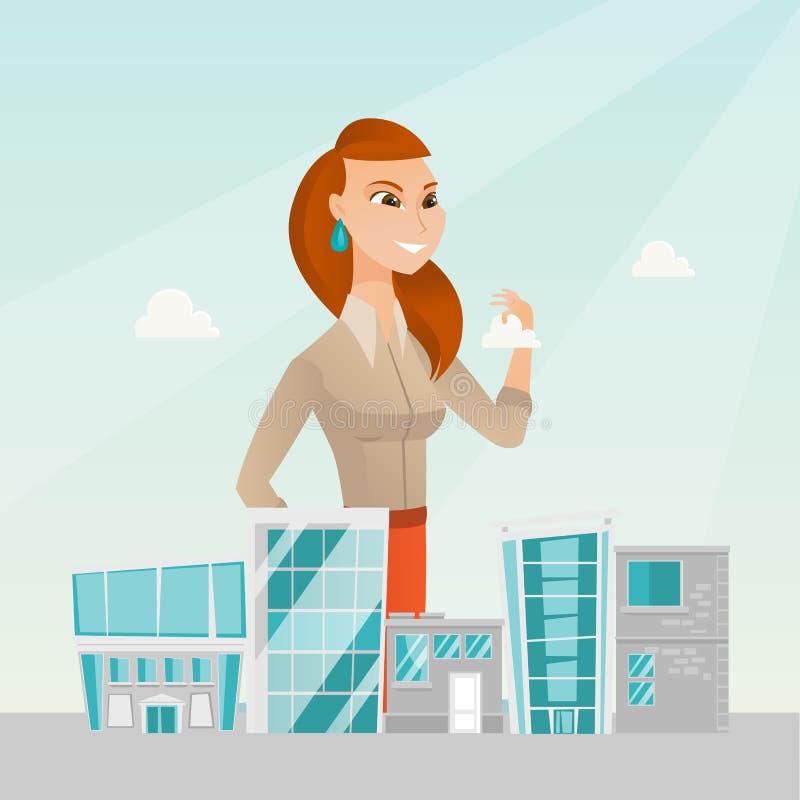 Администраторов по сбыту представляя модель города бесплатная иллюстрация