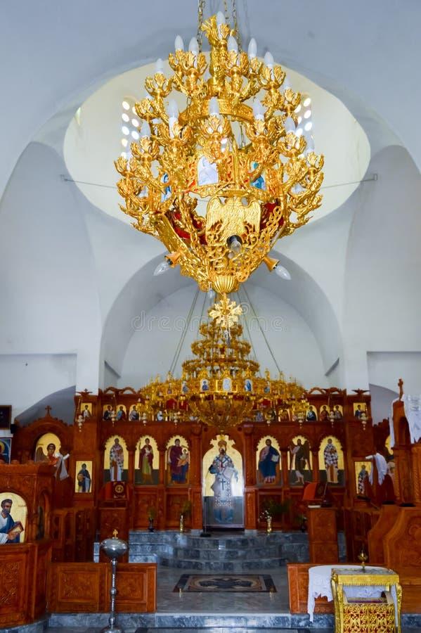 Алтар в малой православной церков церков стоковая фотография