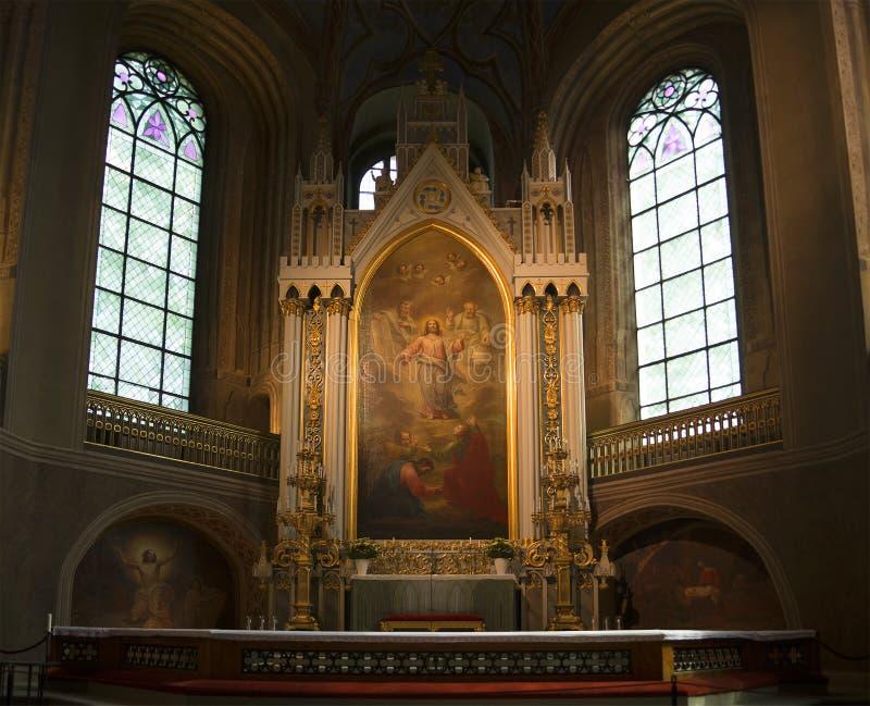 Алтар собора лютеранина в Турку стоковое фото