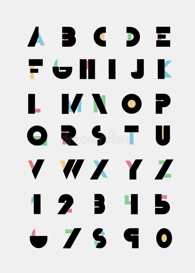 Алфавитные шрифты бесплатная иллюстрация