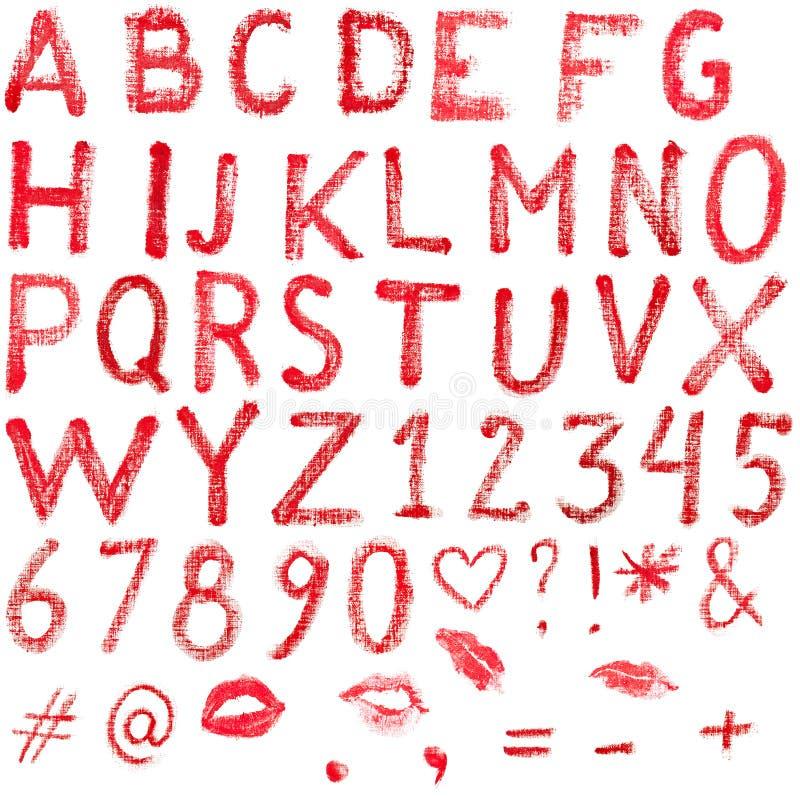 Алфавит губной помады стоковые изображения