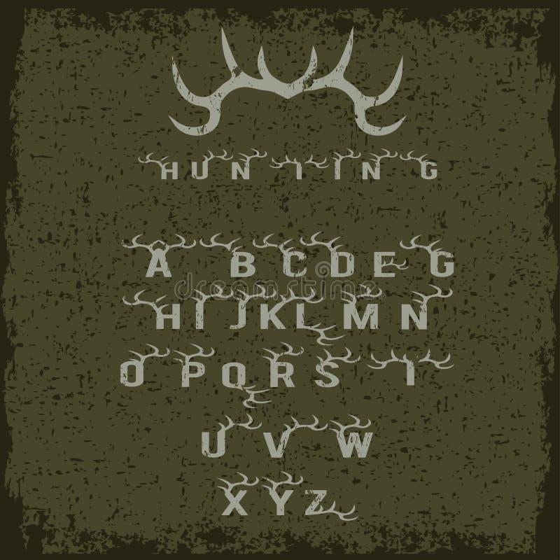 алфавит звероловства с рожками бесплатная иллюстрация