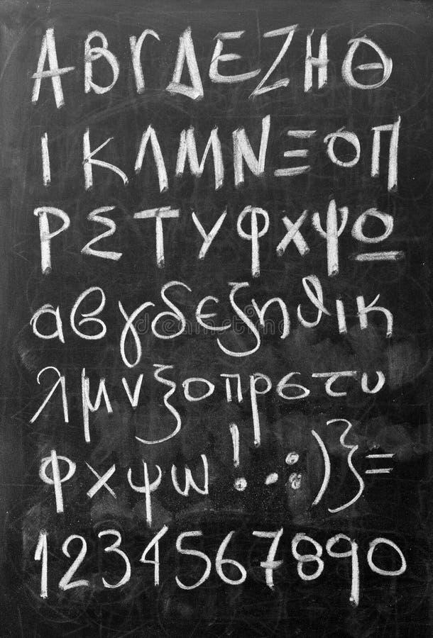 Алфавит на классн классном стоковая фотография rf