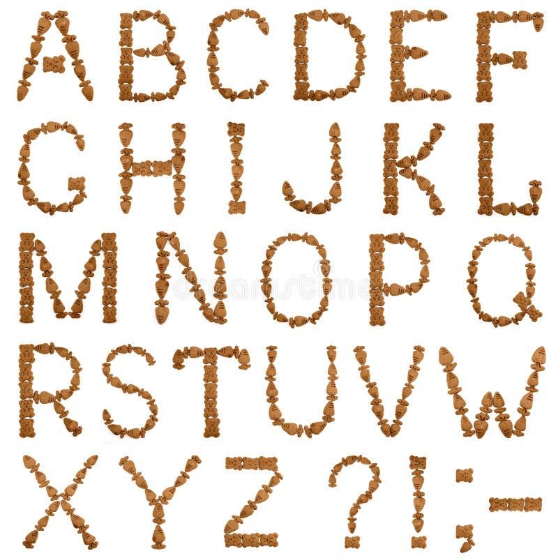 Алфавит печенья шоколада английский стоковые изображения