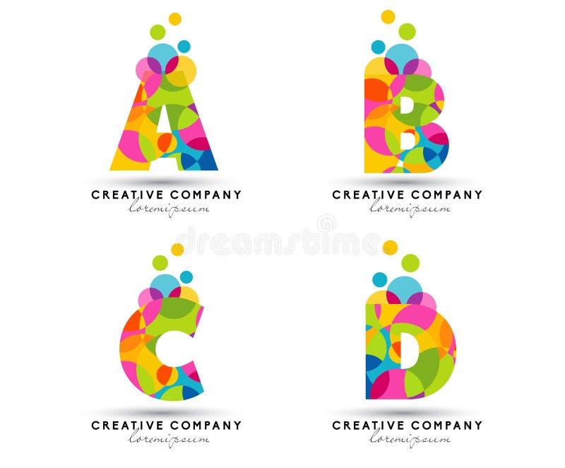 Алфавит помечает буквами логотип иллюстрация вектора