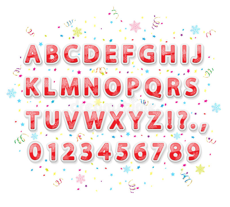 Алфавит рождества иллюстрация вектора