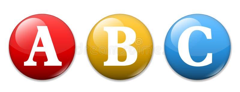 Алфавит ABC иллюстрация вектора