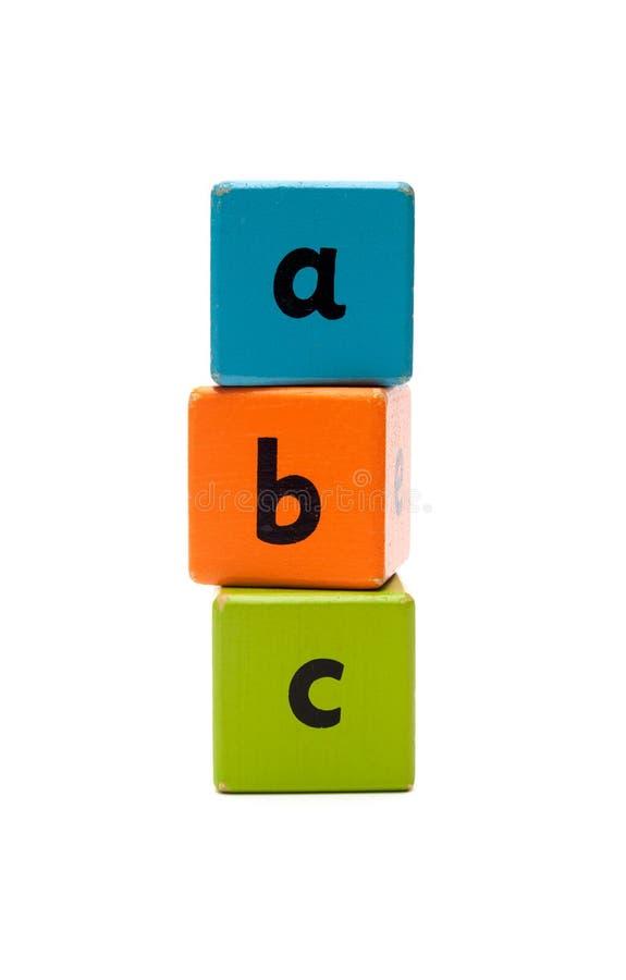 алфавит abc 3d преграждает перевод высокого качества деревянный стоковое фото rf
