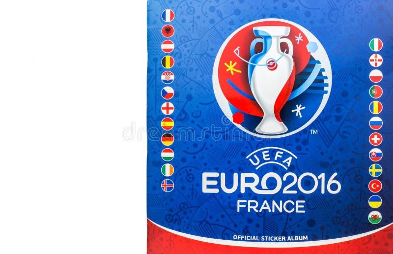 Альбом 2016 стикера Франции евро UEFA лицензированный должностным лицом иллюстрация вектора