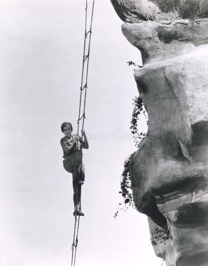Альпинизм лестницей стоковые фотографии rf