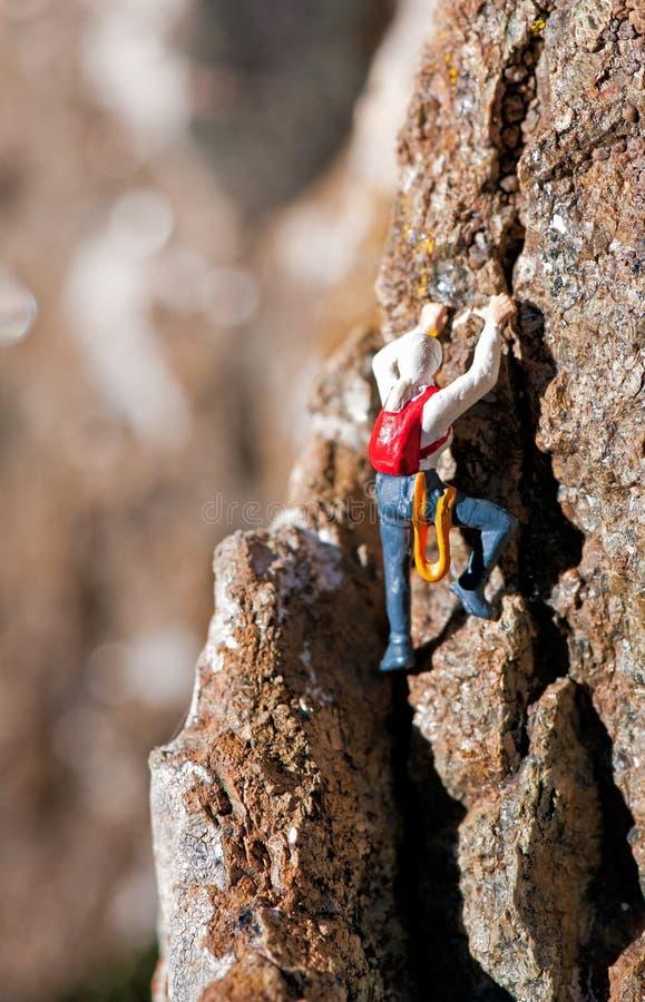 Альпинист утеса стоковая фотография rf