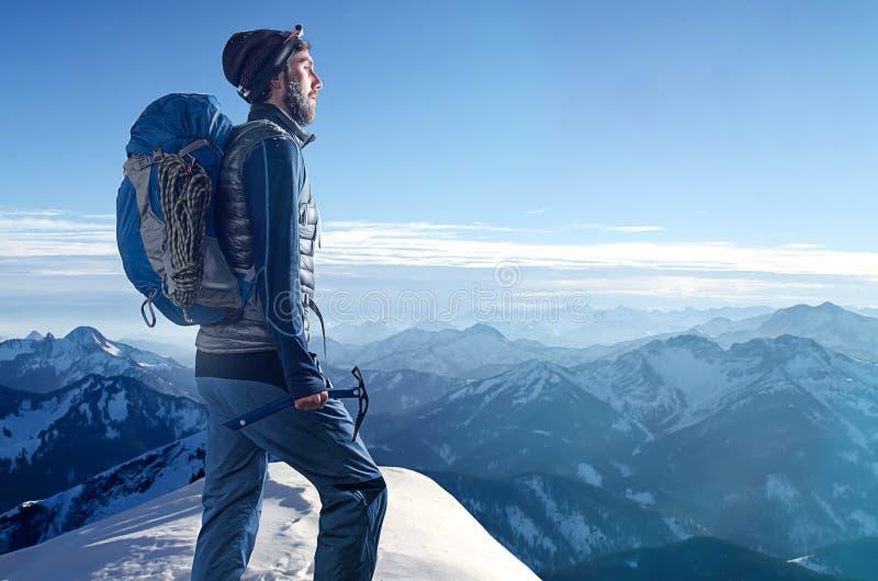 альпинист стоковое изображение