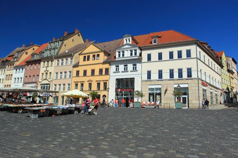 Альтенбург - рыночная площадь стоковое фото