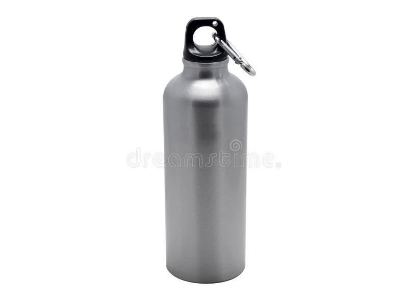 Алюминиевая бутылка с водой спорта стоковые фото