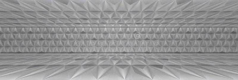 Алюминиевая панорамная комната как предпосылка иллюстрация штока