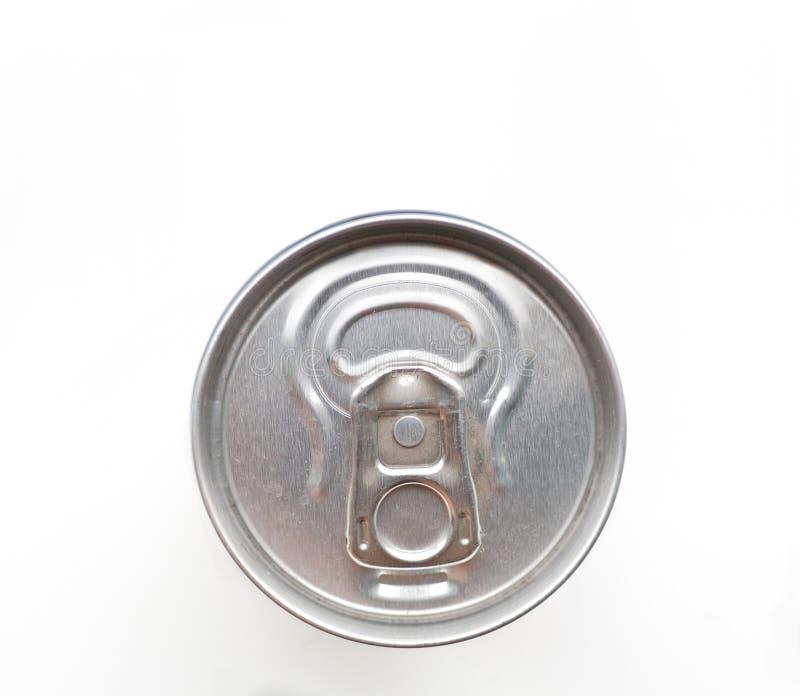Алюминиевая чонсервная банка соды изолированная на белизне стоковое изображение