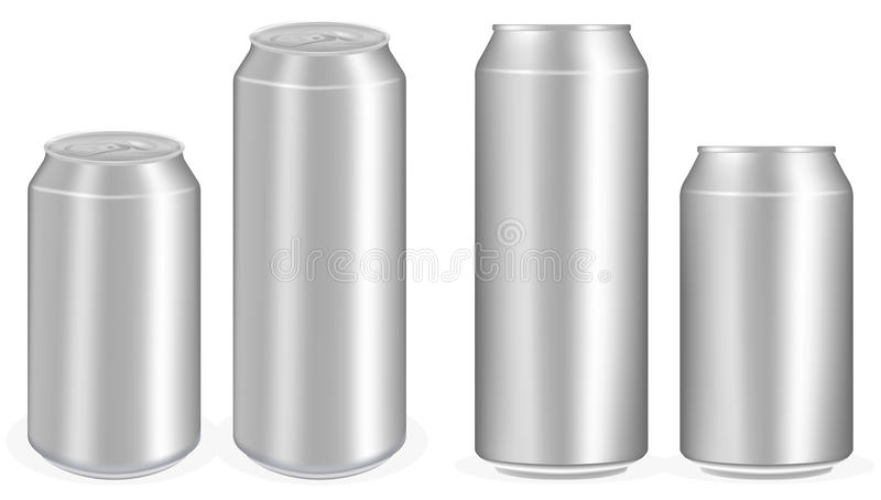 Алюминиевый безалкогольный напиток консервирует вектор иллюстрация штока