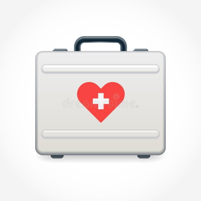Алюминиевый чемодан с сердцем стикера бесплатная иллюстрация