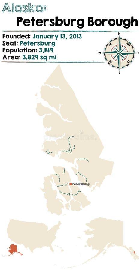 Аляска: Город Петербурга иллюстрация вектора