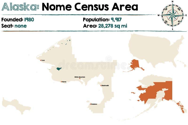 Аляска: Зона переписи населения Ном иллюстрация вектора
