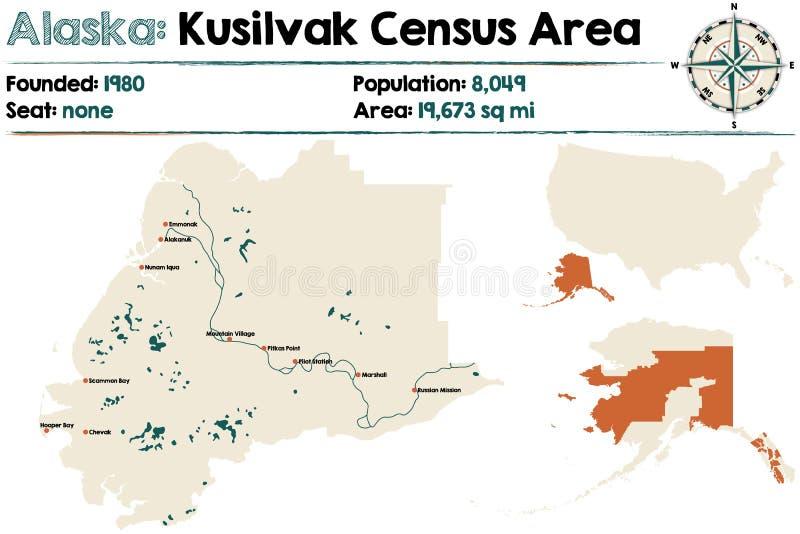 Аляска: Зона переписи населения Kusilvak иллюстрация штока