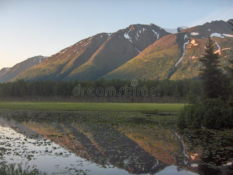 аляскские отражения стоковая фотография