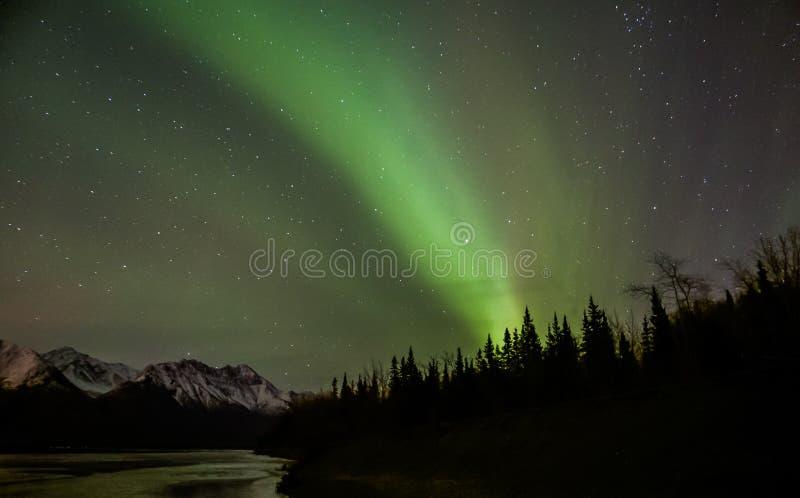 аляскский рассвет стоковые изображения