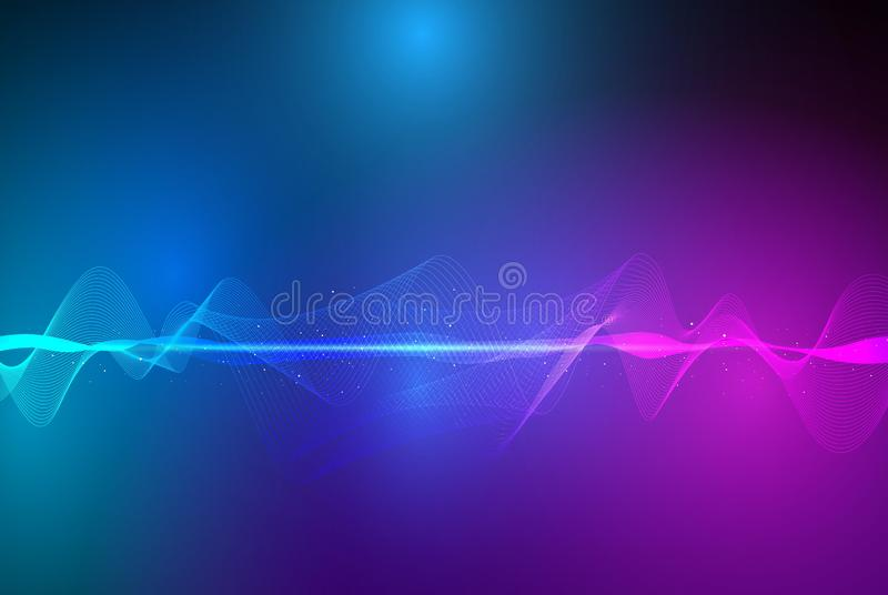 Аbstract sound waves background. Vector vector illustration