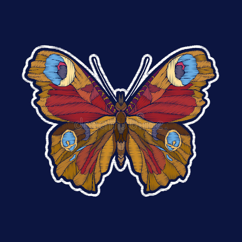 Бабочка Вышивка значки заплаты fachion бесплатная иллюстрация